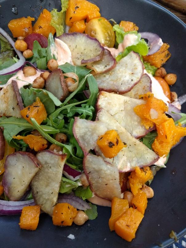 Sweet potato & pumpkin salad
